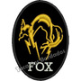 Patch Bordado Brasão Fox Metal Gear Solid Tam. 10x7cm Gms95