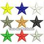 Kit Com 9 Estrelas Bordadas 2,5x2,7cm P/ Escudo Patch Esp56