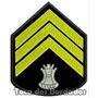 Bordado Divisa Terceiro Sargento Eng. Patch Guerra Mlt14