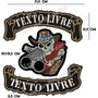 Patch Bordado Caveira Cowboy Shotgun Gr C/texto Livre Car748