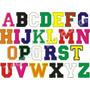 Patch Bordado Letras E Numeros De Tecido Tam. 6cm Altura
