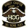 Patch Bordado- Novo Harley Owners Group Conjunto 30x32cm