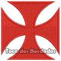 Bordado Cruz De Malta Vasco Da Gama 7cm Patch Futebol Tma11