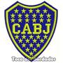 Bordado Escudo Cabj Boca Juniors 8,5cm Patch Futebol Tmi16