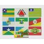 Bordado Termocolante Bandeiras Dos Estados Brasileiros