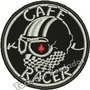 Patch Bordado Corrida Moto Piloto Cafe Racer 8x8cm Car607