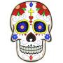 Bordado Termocolante- Caveira Mexicana Skull 01 25x18cm