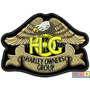 Patch Hog Bordado - Harley Davidson Owners Group 12cm