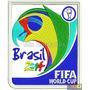 Bordado Termocolante - Copa 2014 - Brasil 2014 Fifa 10x8,8cm