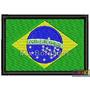 Bordado Termocolante -militar - Band Brasil Cont Pto 7x4,5