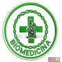 Bordado Termocolante - Profissões - Biomedicina 7,5x7,5cm