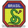Patch Bordado Feb Brasil A Cobra Vai Fumar Militar Mlt22