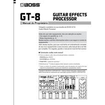 Manual Digital Em Português - Boss Gt-8