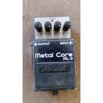 Pedal De Distorção Para Guitarra Boss Metal Core Ml-2