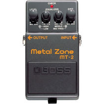 Boss Metal Zone Mt-2: Pedal De Distorção Para Guitarra