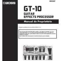 Manual Boss Gt-10 Português - Envio Imediato