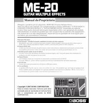 Manual Boss Me-20 Português - Em Pdf