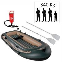 Bote / Barco Inflável Fishman 350 Mor Com Inflador + Remos