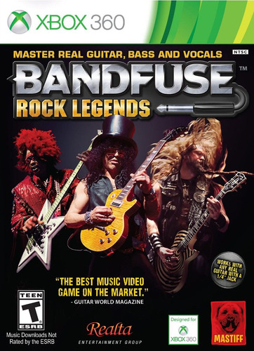Box Bandfuse Rock Legends Para Xbox 360 Ntsc Jogo + Cabo