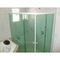 Kit Box Canto De Banheiro Em L S/ Vidros Ct-100 De 100cm