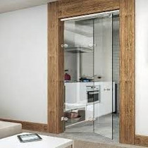 Porta Flex Vidro Sistema Ideia Glass ( Camarão )