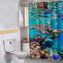 Cortina Banheiro Haus For Fun Under The Sea 01 150x180 Cm
