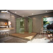 Kit Box Light C1 De Canto 1,50m Banheiro, Vidro Temperado