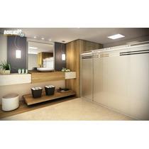 Kit Box Light F3 Cromado 2,50m Banheiro Vidro Temperado