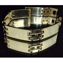 Bracelete Masculino De Luxo Em Ouro 18k 750
