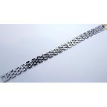 Pulseira Bracelete Masculina Aço Inox Maciço