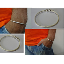 Pulseira Bracelete Masculino Ou Feminina Folheado A Prata