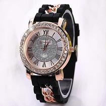 Relogio/bracelete Feminino Romanos Dourado Importado 13cores