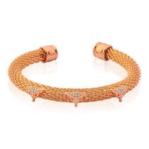 Bracelete Italiano Folheado A Ouro Rosé