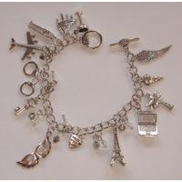 Bracelete Pulseira 50 Tons De Cinza