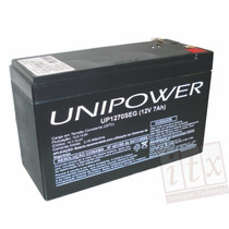 Kit C/ 10pcs Bateria 12v 7ah Unipower Up1270seg No-break Itx