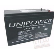 Kit C/ 8pcs Bateria 12v 7ah Unipower Up1270e No-break Itx