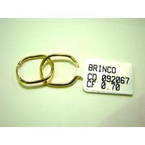 Maravilhoso Brinco De Argola Ouro 18k Frete Grátis 092067