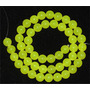 Jade Green Lemon Verde Natural Bola 8mm Teostone Colar 982