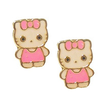 Brinco Hello Kitty Ouro18k - Leloeane