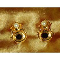 Lindo,elegante Par De Brincos F.romana Banho18k/murano,déc90