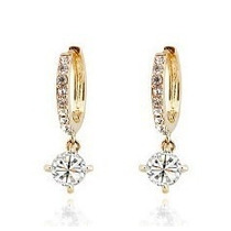 Brincos De Moda Banhado A Ouro De Cristal Austríaco Strass
