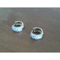 Brinco Argola Com Diamantes Em Ouro Amarelo 18k