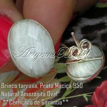 Escolha Seu Par Brinco Amazonita Natural Prata +frete Grátis