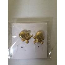 Brinco De Caveira Bijuteria Dourado Ou Prata