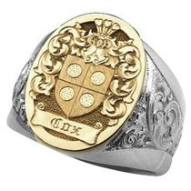 Anel Luxury Combinado Ouro Prata Jóia Artística
