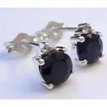 Brincos De Prata 925 Com Safiras Night Blue E Diamantes