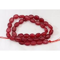 Jade Rubi Vermelho Vinho Oval Facetado 10x8mm Teostone 1060
