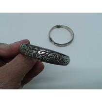 Bracelete Tibetano Em Prata, Fênix, Dragão, Pérola