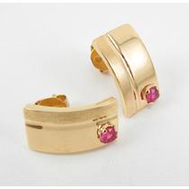 Esfinge Jóias - Brinco Design Rubi Em Ouro Amarelo 18k 750.