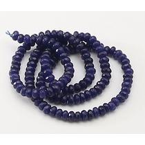 Jade Azul Safira Pneu Rondell 2mm Facetado Fio Teostone 831